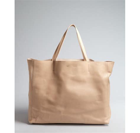 large bag céline beige leather large tote bag in lyst