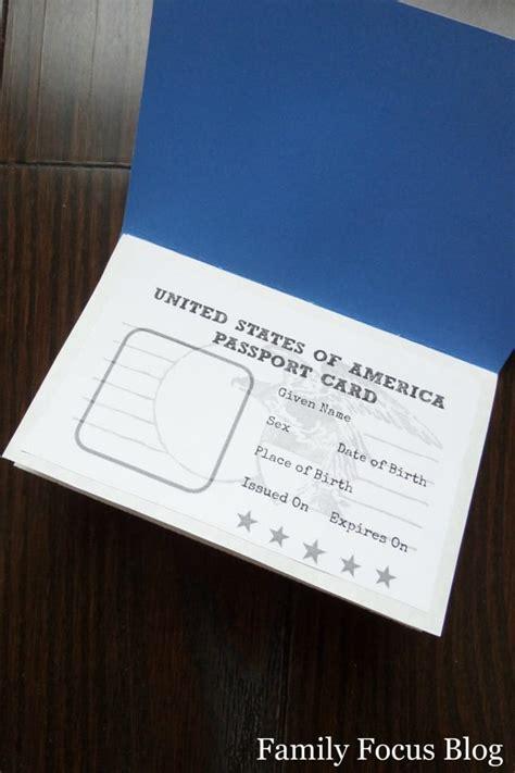 printable passport craft fun world geography  kids