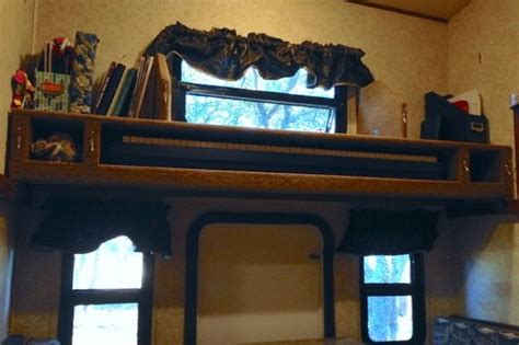 Switch An Rv Bunk Bed Into A Storage Shelf For Almost Anything