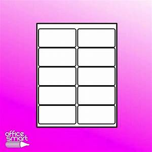 100 sheets 5163 5263 8163 size 10 up 4x2 2x4 white With 2x4 colored labels