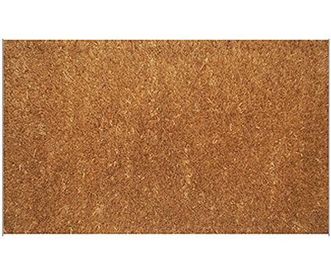 Plain Coir Doormat by Plain Coir Doormat Brown Regular