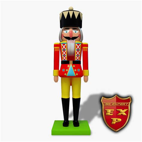 3d nutcracker toys people