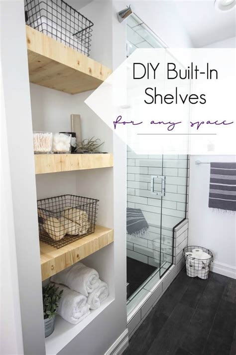Bathroom Wall Storage Ideas by 25 Best Built In Bathroom Shelf And Storage Ideas For 2019