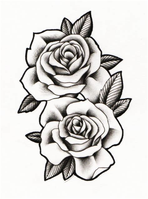 rose drawing tattoo ideas  pinterest tattoo rose designs rose tattoos  black
