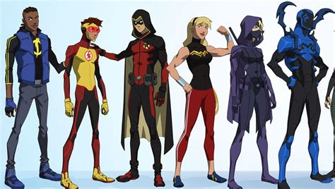 sdcc  young justice season  character lineup