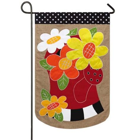 seasonal garden flags water can flowers burlap garden flag garden flags