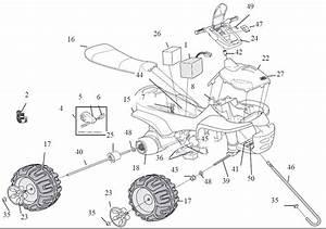 Power Wheels Princess Trailrider Parts
