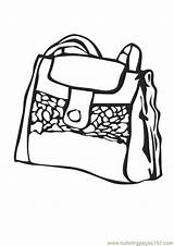 Coloring Purse Pages Handbag Shopping Coloringpages101 Template Getdrawings Drawing sketch template