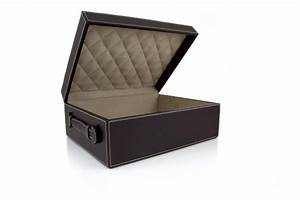 hotel luxury collection chocolate leather document box With leather document box