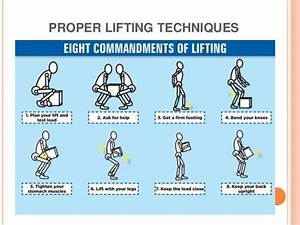 Using Proper Ergonomics When Lifting And Carrying Heavy