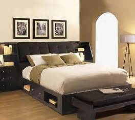 modern headboard with storage home staging living room