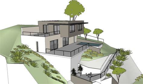 maison contemporaine sur un terrain en pente 224 l estaque marseille architecte 224 marseille