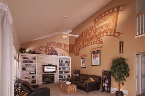 Appealing wall décor for your new home. Wall Mural For A Personal Home Theater