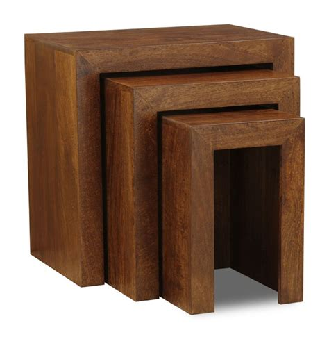 Buy solid mango wood square coffee table, living room furniture decor, dark brown: Dakota Large Nest   Living room furniture, Dark mango, Retro lighting