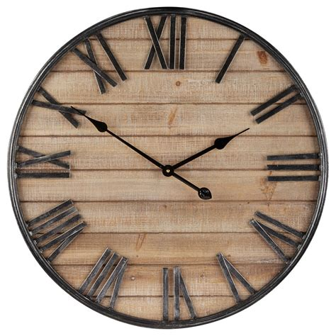 horloge murale en bois bouclair