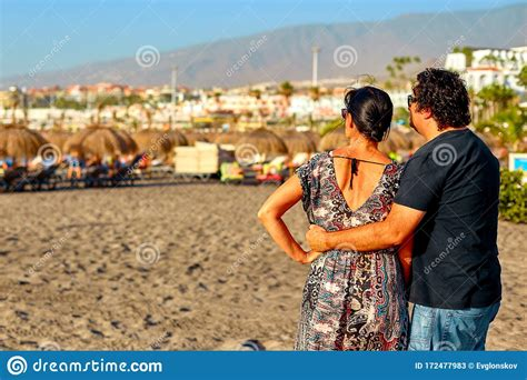 Spain Tenerife Adeje December 17 2018 Loving Couple