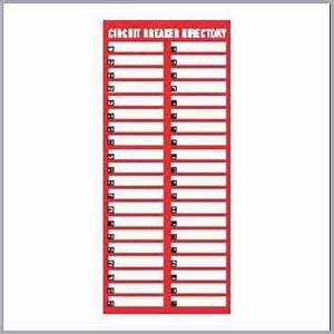 Circuit breaker panel labels template letter world for Circuit directory template download
