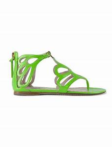 Green Flowered Sandals