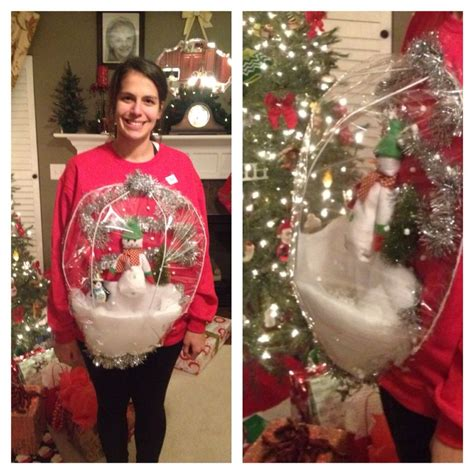 ugly christmas sweater party snow globe christmas