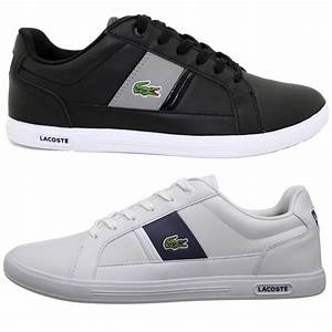 Lacoste Mens Europa LCR Casual Sneakers Leather Shoes ...