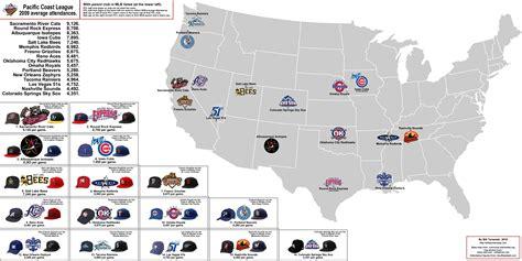 minor league baseball cities map