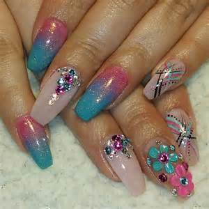 Pretty bling acrylic nail art designs ideas design trends