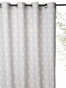 Rideau Jaune Et Bleu : rideau imprim en coton avec oeillets bleu grise etoiles bleu chevrons grege etoiles rose ~ Teatrodelosmanantiales.com Idées de Décoration