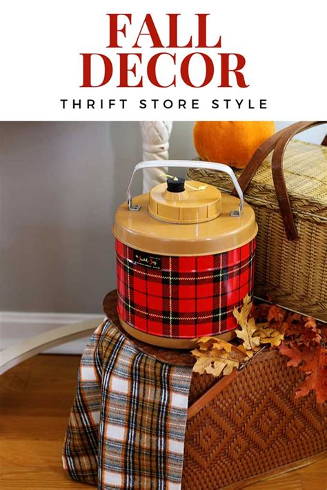 The russell home has a rich history dating back to 1951 when mrs. Fall Home Decor: Thrift Store Style - House of Hawthornes