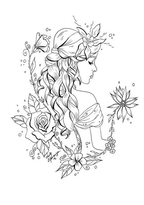 Beautiful coloring page Fairy coloring pages Fairy