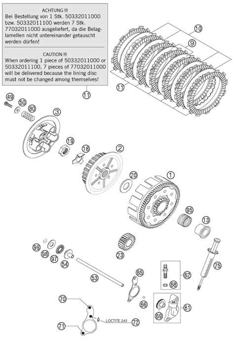 Ktm Sx 85 Wiring Diagram by Ktm Fiche Finder Clutch 125200 2000 Spare Parts For The