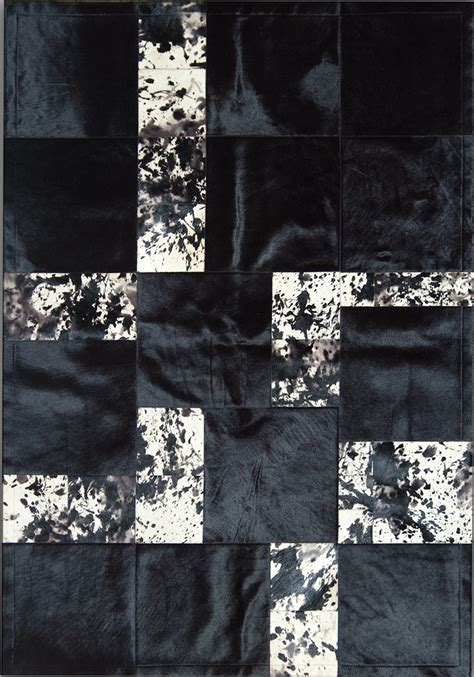 Designer Cowhide Rugs by Pieles Pipsa Blue Cow Hide Designer Rug 8 From The Cowhide