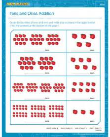 subtraction sums for class 2 tens and ones addition 1st grade math worksheet math blaster