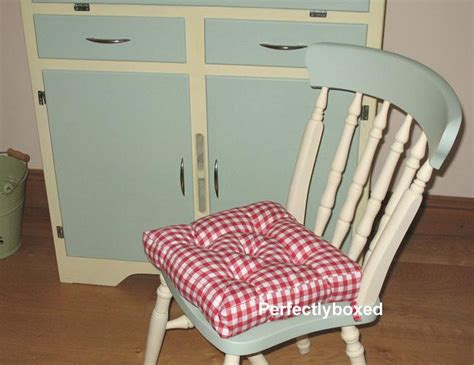 country kitchen chair cushions with ties gingham seat pads at www perfectlyboxed 9493