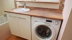 plus simple et plus pratique le lave linge sous le meuble With meuble salle de bain pour lave linge
