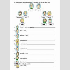 Family Tree  Free Esl Worksheets  Teaching And Esl  Family Worksheet, Family Tree Worksheet