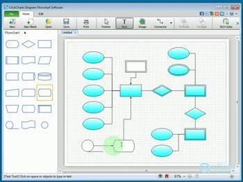 clickcharts diagram flowchart software