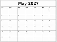April 2027 Blank Schedule Template