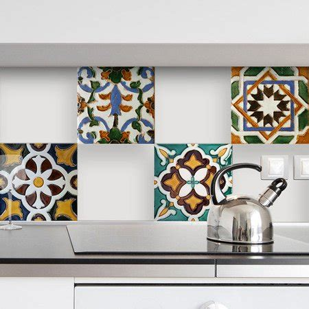 Peel And Stick Tile Decals by Wallpops Nature Peel And Stick Tiles Wall Decal Walmart