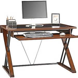 whalen 174 astoria computer desk brown cherry staples 174