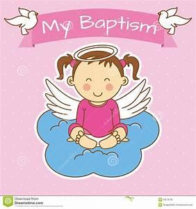 Girl Baptism Stock Vector - Image: 63279708