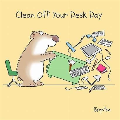 Desk Clean Boynton Sandra January Funny Cartoons