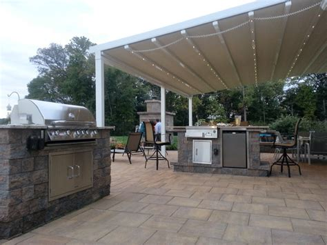 residential waterproof retractable patio awning traditional patio philadelphia