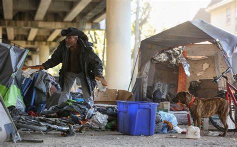 officials shut  homeless encampment  midtown