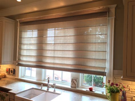 extra wide roman shades  blinds  large window