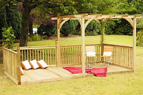 forest garden pergolas and decking kits