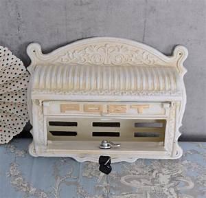 Briefkasten Holz Antik : briefkasten gusseisen shabby vintage jugendstil antik weiss ebay ~ Sanjose-hotels-ca.com Haus und Dekorationen