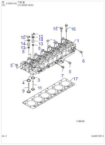 6D102 6BT5.9 PC200-7 Engine Cylinder Head Assy 3934785