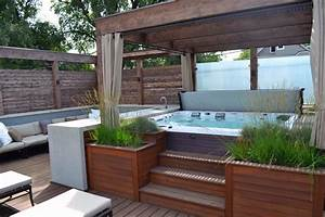 gorgeous decks and patios with hot tubs diy deck With whirlpool garten mit bonsai kit