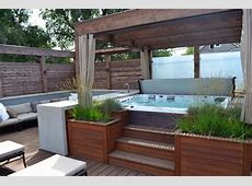 Gorgeous Decks and Patios With Hot Tubs DIY Deck