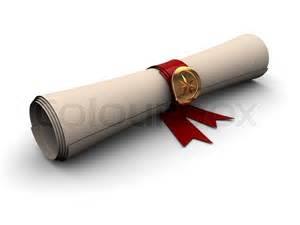 Paper Scroll with Ribbon